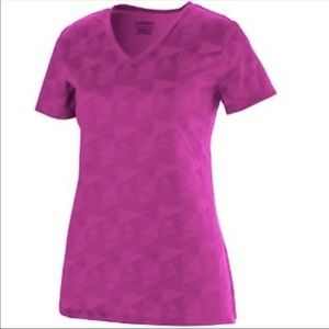 Women's Pink V-Neck Athletic Top Size M